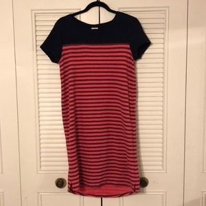 Nantucket red and navy striped dress
